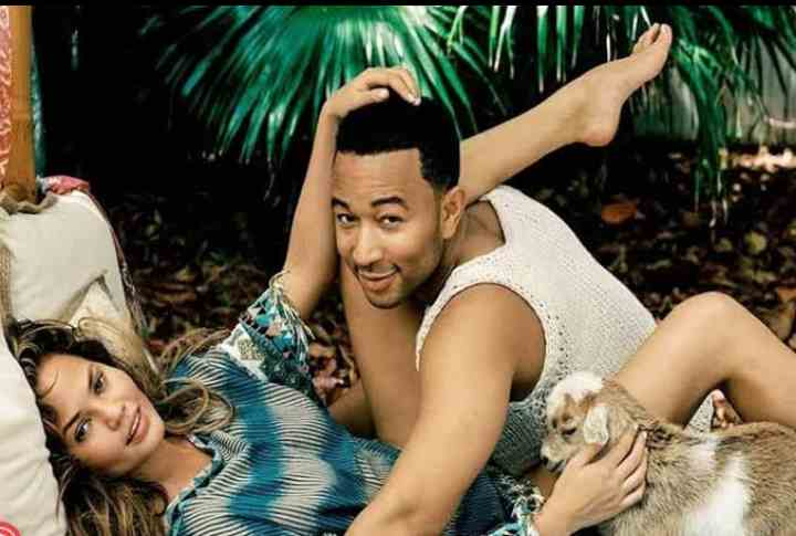 'Interesting: John Legend's wife reveals the places she had s3£x with her husband (video)