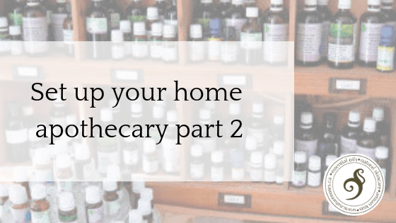 set up your homw apothecary