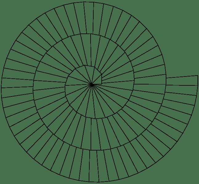 26. 생존기술 : 등각 나선 7 ( 베르누이 나선 : Equiangular Spiral
