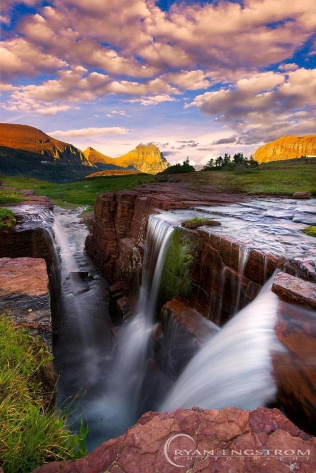 Triple Falls Glacier National Park