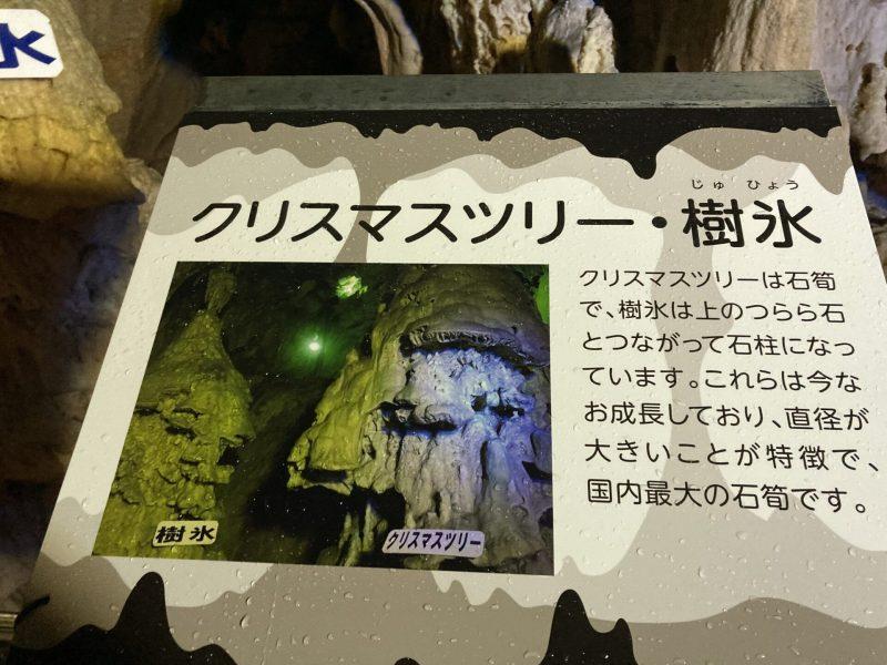 鍾乳石の説明板