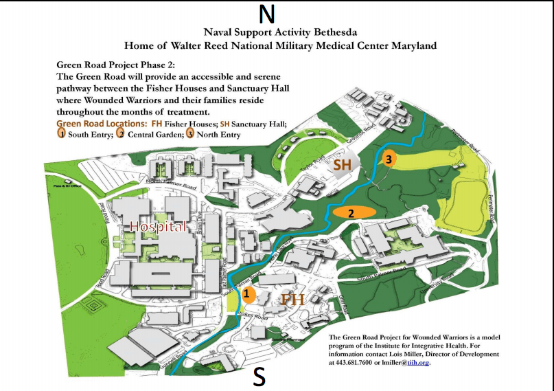 Center Walter Reed National Map Medical