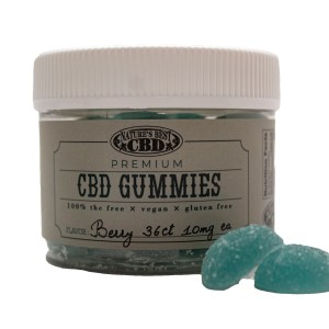 Nature's Best CBD Gummies - Berry Flavor