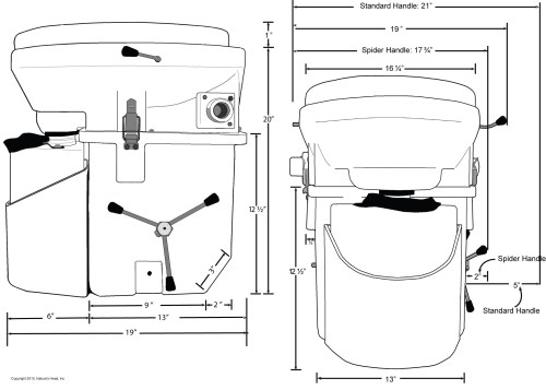 small resolution of nature s head composting toilet dimensions inches