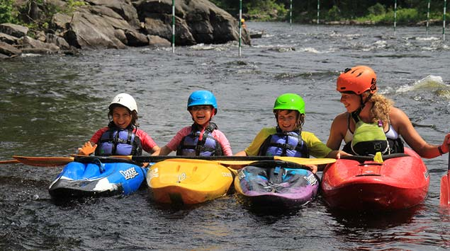introducing kayak to the children