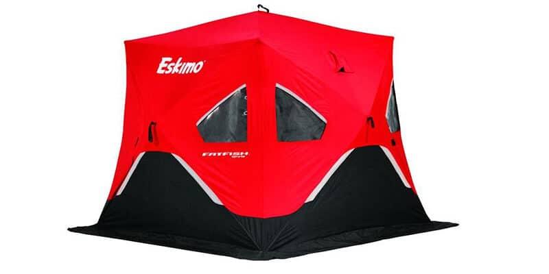 Eskimo FF949I FatFish Insulated Pop-up Portable Ice Shelter, 3-4 Person