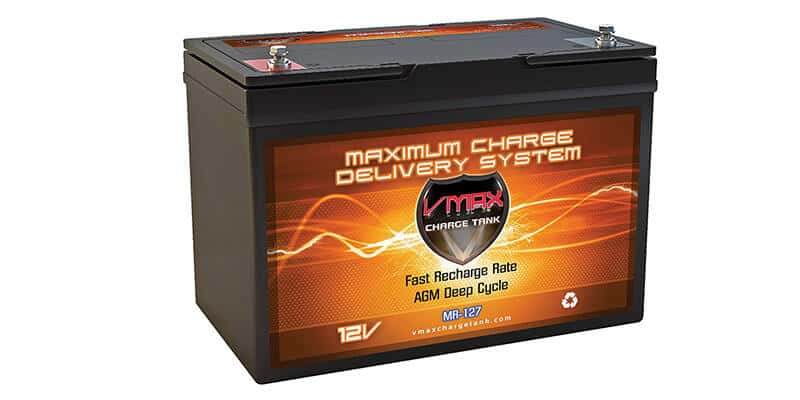 VMAX MR127 12 Volt 100Ah AGM Deep Cycle Maintenance Free Battery for boats