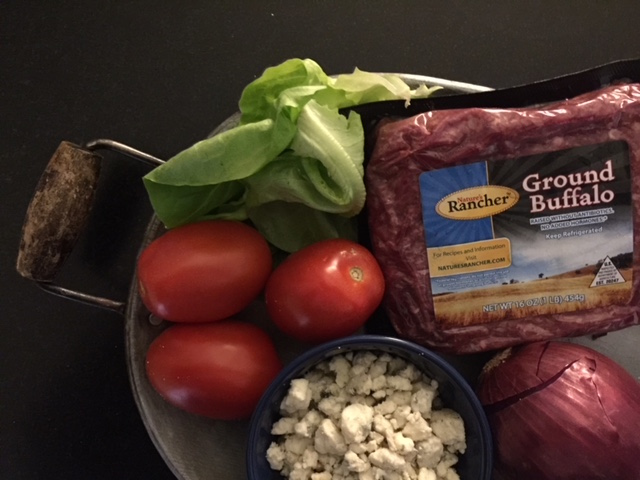 Bison Blue Cheese Burger Ingredients