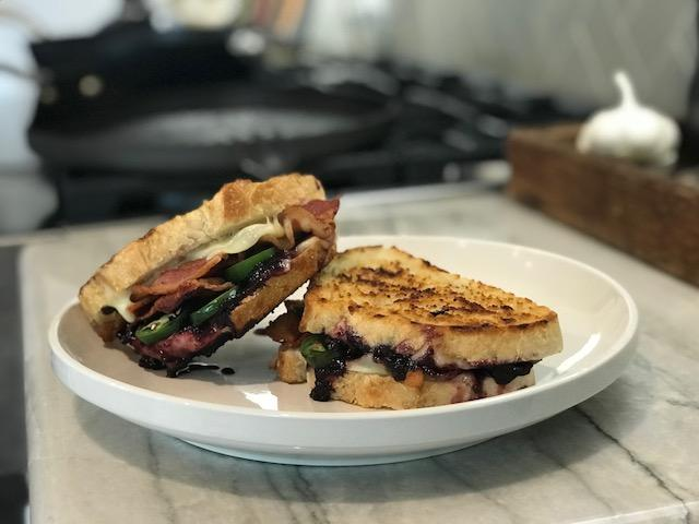 Blackberry Bacon Grilled Cheese