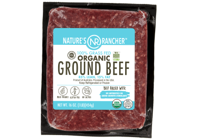 Nature's Rancher 100% Grass Fed Organic Ground Beef 85/15