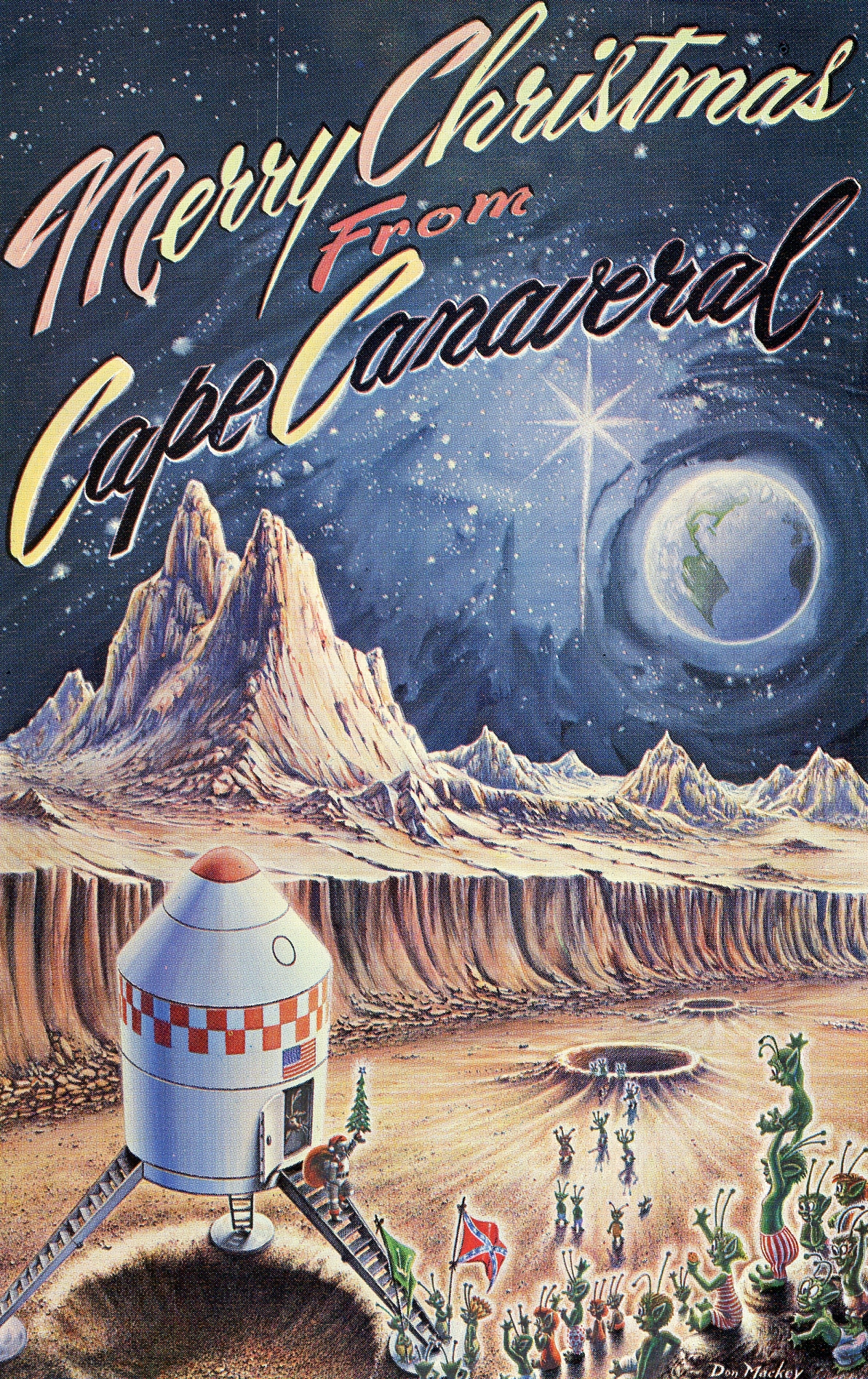 Vintage Space Art Christmas Cards Naturetime