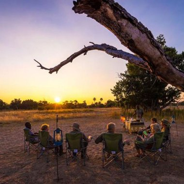 Camp-fire-in-South-Luangwa,-Zambia