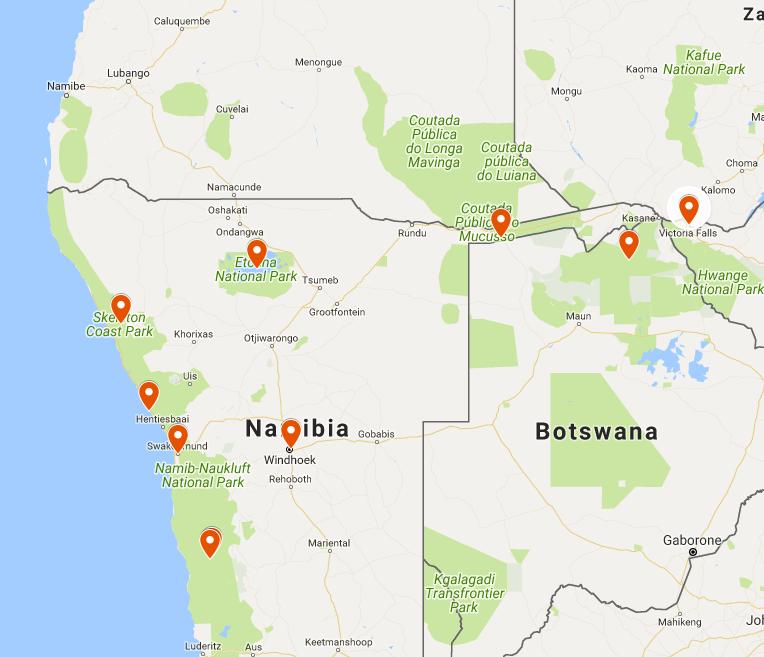 NAMIBIA CHOBE VIC FALLS