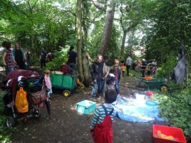 Knights Hill Wood Capital Clean Up 27-6-16 Lambeth Nature conservation Home education free activity