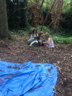 young children in woodland Lambeth