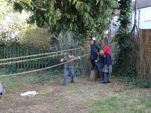 First Free forest school after school activity for Granton primary school children Lambeth-1