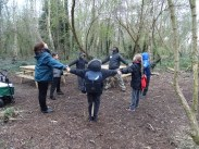 Forest school activity at eardley road sidings nature reserve Lambeth-10