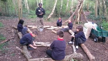 Forest School easter egg hunt Granton Primary School Lambeth-1