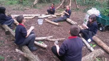Forest School easter egg hunt Granton Primary School Lambeth-4