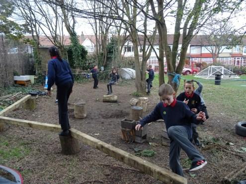 Second forest school after school activity for Granton primary school children -1