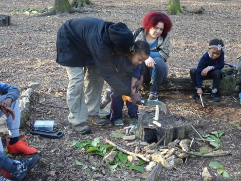 Second free forest school after school activity at Fern Lodge Estate Lambeth-9