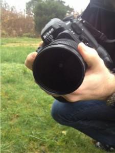 polfilter på kamera