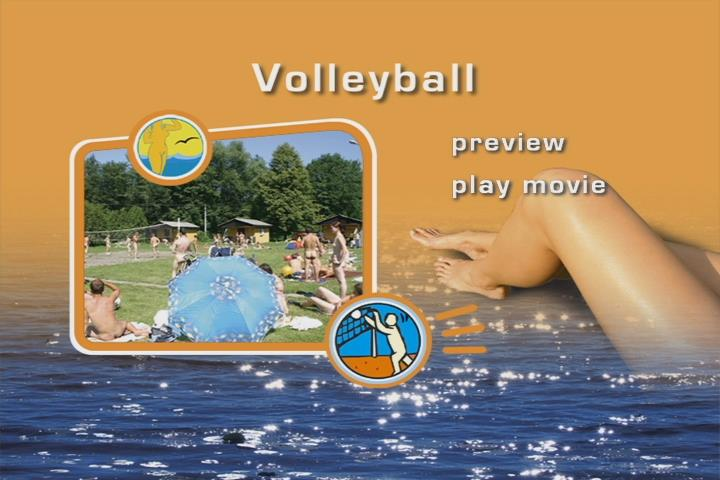 Nudism and sport - outdoor volleyball