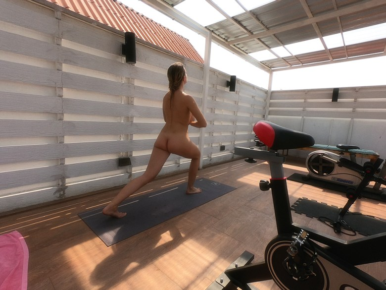 gym at the Barefeet Naturist Resort