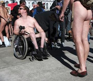 Wheelchair nudist