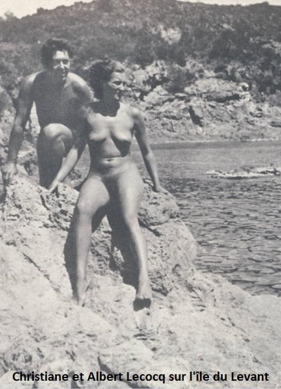 Christiane et Albert Lecocq sur l'Ile du Levant