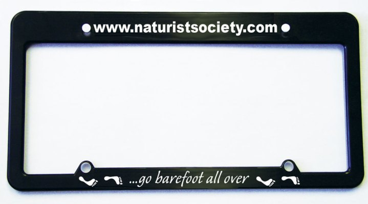 Go Barefoot All Over License Plate Frame