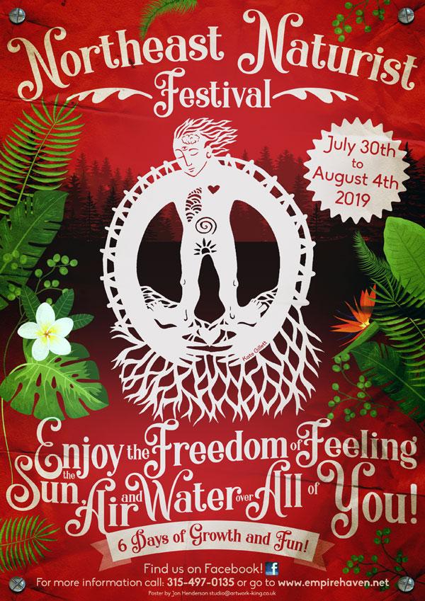 Northeast Naturist Festival Poster