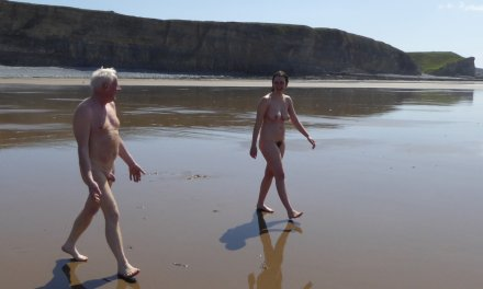 Morecambe Bay's first ever naked walk for the British Heart Foundation