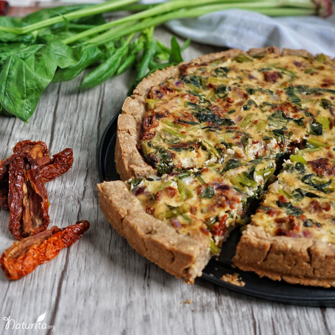 Vegane Spinat-Quiche
