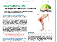 Osteoporose, Arthritis, Schmerzen – Maßnahmen und Tipps zur Ernährung sowie Nahrungsergänzungen zur Schmerzlinderung
