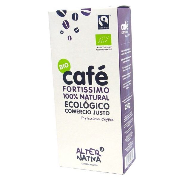 1260 Cafe fortissimo molido ALTERNATIVA 3 250 gr BIO