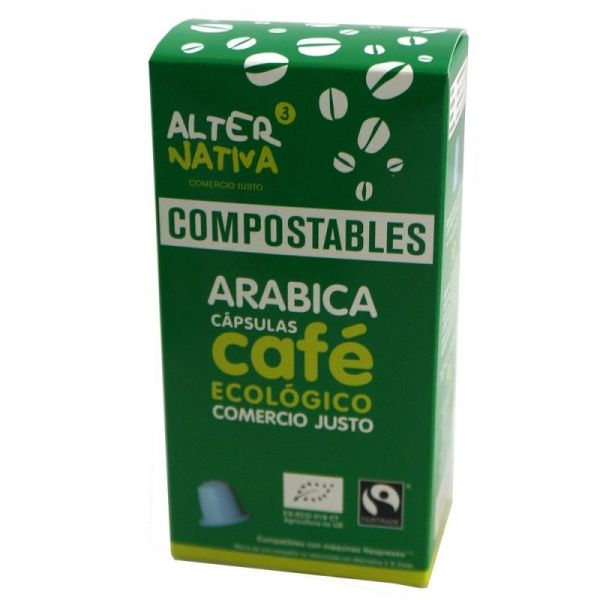 1945 Cafe arabica ALTERNATIVA 3 10 capsulas COMPOSTABLES BIO