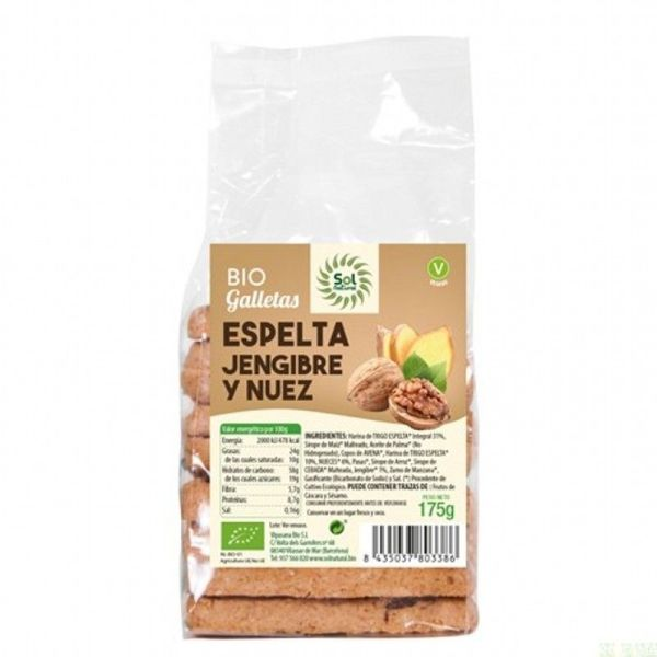 2049 Galleta jengibre nueces SOL NATURAL 150 gr