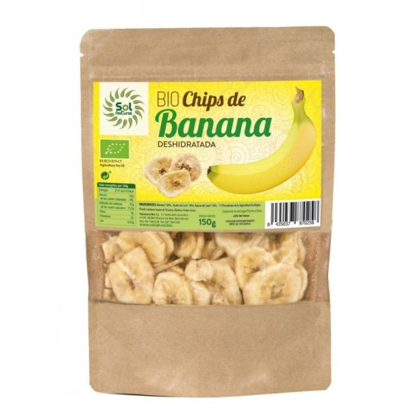 2134 Chips banana SOL NATURAL 150 gr BIO