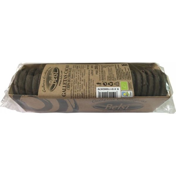 3393 Galletas cacao chips chocolate BELSI 250 gr BIO