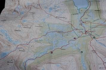 Studere kart for videre gåing