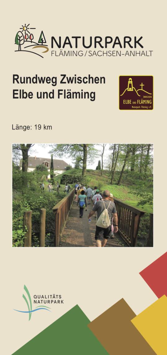 Flyer Rundweg Zwischen Elbe und Fläming 2019