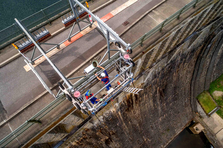 RUHRVERBAND: Bruchsteinmauer der Ennepetalsperre wird saniert