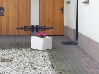 Plantenbak van Steigerhout aan voordeur