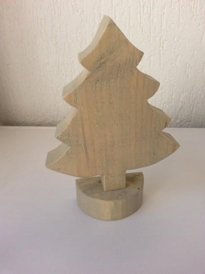 Kerstboompje van Steigerhout groot in grey-wash