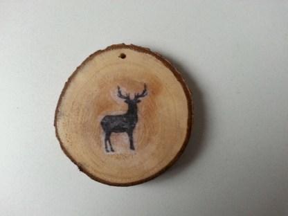 Boomschijfhanger voor de Kerstboom met Hert