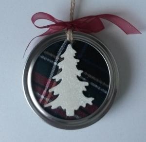 Sienekes Kerstboomhanger Mason Jar met afbeelding kerstboom