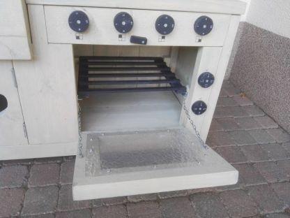 Kinderkeuken van Steigerhout White-wash Bakovenrooster