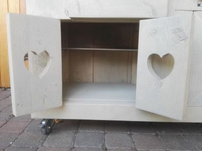 Kinderkeuken van Steigerhout keukenkastje met legplank