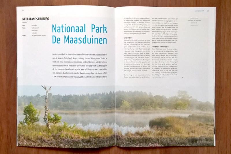 Artikel in Landschap over Nationaal Park De Maasduinen.
